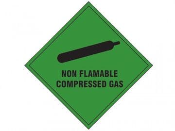 Non Flammable Compressed Gas SAV - 100 x 100mm